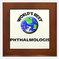 World's Best Ophthalmologist Framed Tile