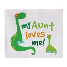 My Aunt Loves Me Throw Blanket