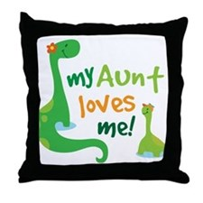 My Aunt Loves Me Throw Pillow