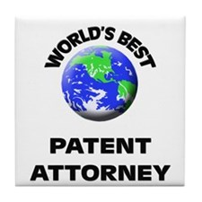 World's Best Patent Attorney Tile Coaster