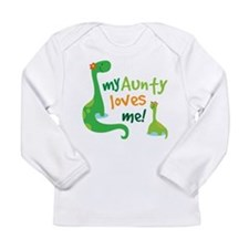 Aunty Loves Me dinosaur Long Sleeve Infant T-Shirt