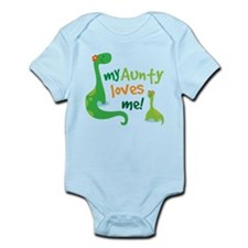 Aunty Loves Me dinosaur Infant Bodysuit