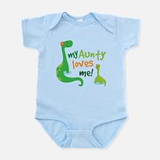 Aunty Loves Me dinosaur Infant Bodysuit