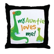 My Auntie Loves Me Throw Pillow