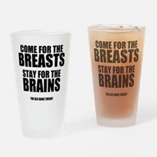 Breasts and Brains Drinking Glass