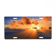Inspirational heaven sunset Aluminum License Plate