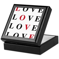love card with black and red letters Keepsake Box