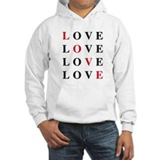 love card with black and red letters Hoodie