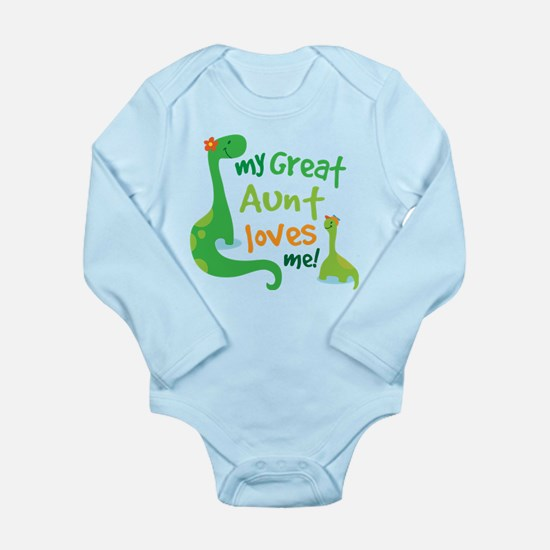 My Great Aunt Loves Me Long Sleeve Infant Bodysuit