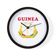 Guinea Coat Of Arms Designs Wall Clock