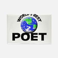 World's Best Poet Rectangle Magnet