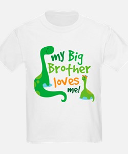 Big Brother Loves Me dinosaur T-Shirt