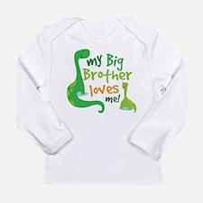 Big Brother Loves Me dinosaur Long Sleeve Infant T