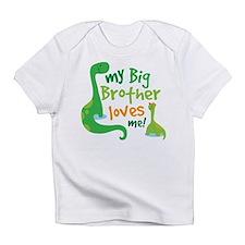 Big Brother Loves Me dinosaur Infant T-Shirt