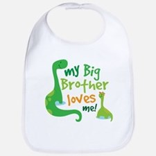 Big Brother Loves Me dinosaur Bib