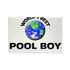 World's Best Pool Boy Rectangle Magnet