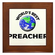 World's Best Preacher Framed Tile