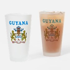 Guyana Coat Of Arms Designs Drinking Glass