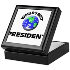 World's Best President Keepsake Box