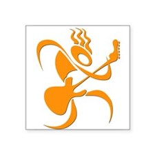 Guitar Icon Oval Sticker