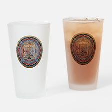 Mandala one Drinking Glass