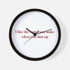 I-like-sound-you-make-bod-burg Wall Clock