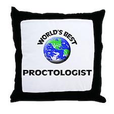 World's Best Proctologist Throw Pillow