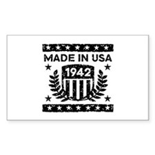 Made In USA 1942 Decal