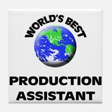 World's Best Production Assistant Tile Coaster