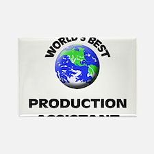 World's Best Production Assistant Rectangle Magnet