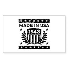 Made In USA 1943 Decal