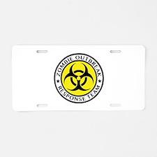Zombie Outbreak Response Team Aluminum License Pla