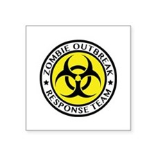 "Zombie Outbreak Response Team Square Sticker 3"" x"