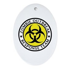 Zombie Outbreak Response Team Ornament (Oval)