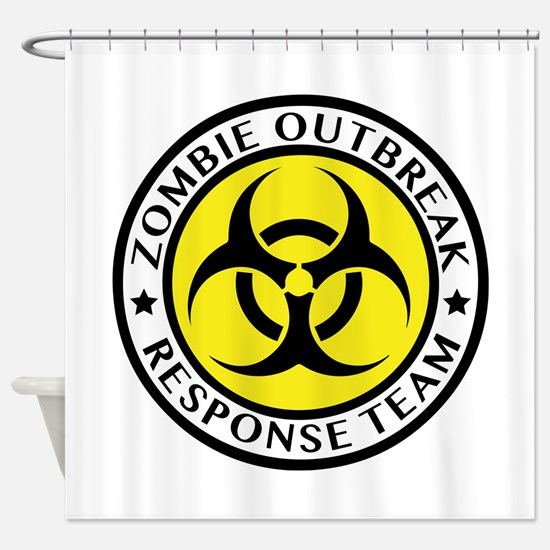 Zombie Outbreak Response Team Shower Curtain