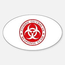 Zombie Outbreak Response Team Sticker (Oval)