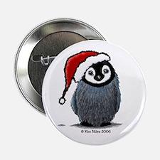 Christmas Penguin Button