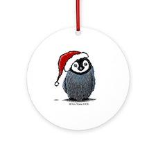Christmas Penguin Ornament (Round)