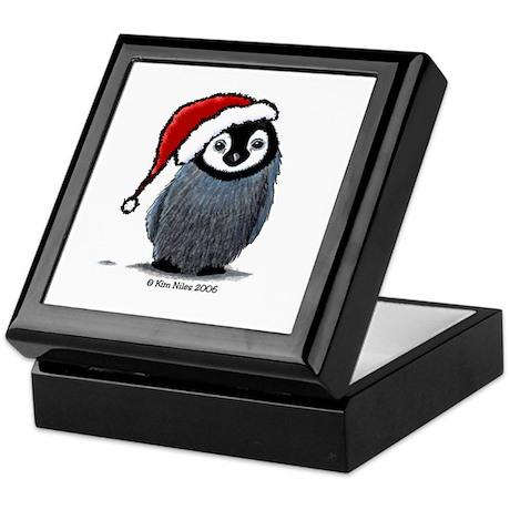 Christmas Penguin Keepsake Box