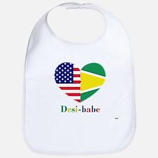 Guyanese-American Desi-babe Heart Bib