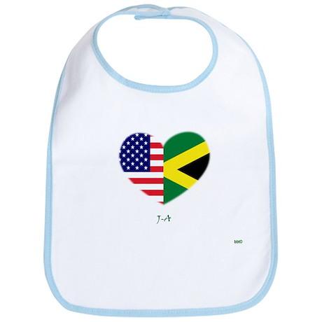Jamaica Half-flag Heart Bib