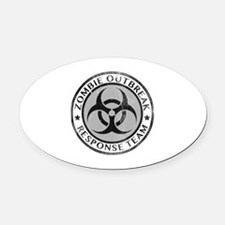 Zombie Outbreak Response Team Oval Car Magnet