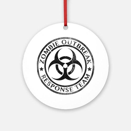 Zombie Outbreak Response Team Ornament (Round)