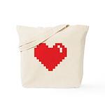 Pixel Heart Tote Bag