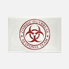 Zombie Outbreak Response Team Rectangle Magnet
