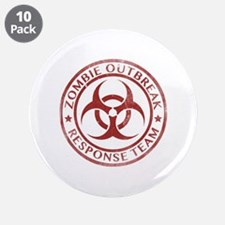 "Zombie Outbreak Response Team 3.5"" Button (10 pack"