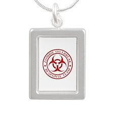 Zombie Outbreak Response Team Silver Portrait Neck