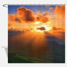 Inspirational heaven sunset Shower Curtain