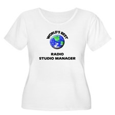 World's Best Radio Studio Manager Plus Size T-Shir