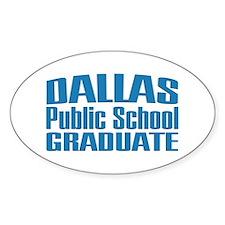 Dallas Public School Graduate Oval Decal